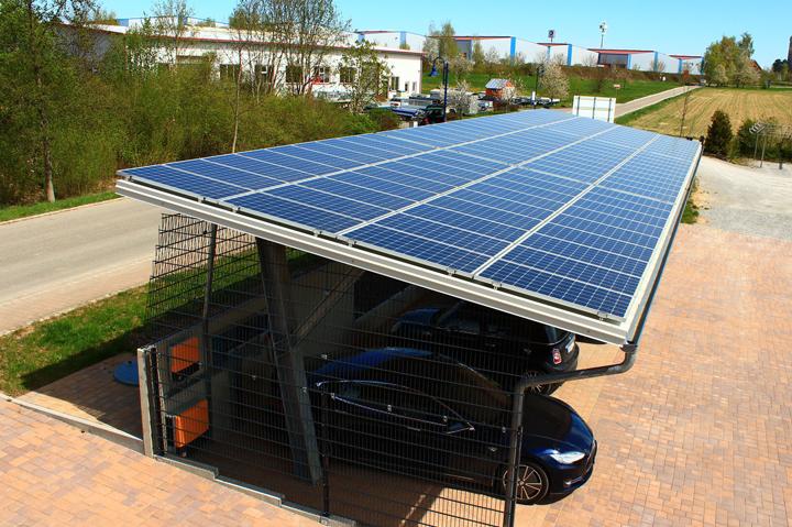 solargesteuerte ladestation f r elektroauto elektromobilit t. Black Bedroom Furniture Sets. Home Design Ideas
